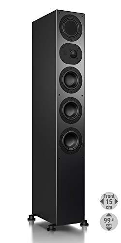 Nubert nuLine 264 Standlautsprecher | Lautsprecher für Musikgenuss | Heimkino & HiFi Qualität auf hohem Niveau | Passive Standbox mit 3 Wege Technik Made in Germany | Standbox Schwarz | 1 Stück