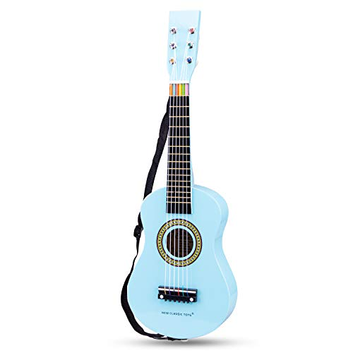 New Classic Toys Guitar-Blue with Music Notes, Colore, 3/5 Anni, 10349