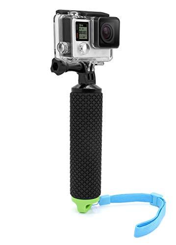 MyGadget Schwimmender Action Kamera Handler Stick - Rutschfester Handgriff Monopod Wasser Zubehör für z.B. GoPro Hero Black 7 / 8 6 5 4 3+ 3, Xiaomi Yi 4K - Grün