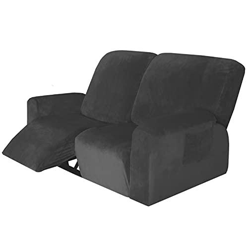 LUOQI Samt-Optisch Stretchhusse für Relaxsessel Sesselbezug, Verstellbarer Sofabezug 2-teilig, rutschfest, weich, hochelastisch, Schonbezug, maschinenwaschbar Elastisch Bezug