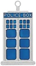 Doctor Who Blue Police Box Tardis Wholesale 50mm Charms DIY Jewelry Making Supply for Charm Pendant Bracelet by Charm Crazy (2)