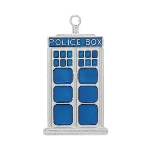 Doctor Who Blue Police Box Tardis Wholesale 50mm Charms DIY Jewelry Making Supply for Charm Pendant Bracelet by Charm Crazy  1