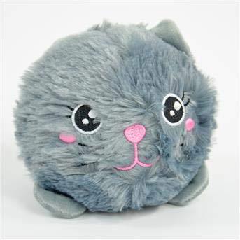 Kögler BomBoms Katze grau 12 cm zusammendrückbar Plüschkatze