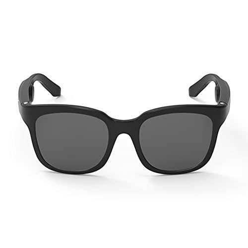 docooler Occhiali da Sole da Uomo Occhiali Polarizzati Intelligenti Auricolare Bluetooth a Conduzione Ossea, Pulsante a Sfioramento del Microfono Incorporato con Scatola Pieghevole