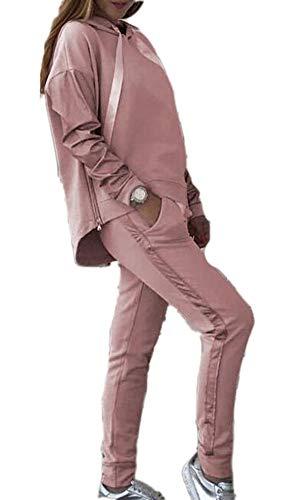 Conjunto de chándal Inferior de Dos Piezas a Juego de Color para Mujer Loungewear