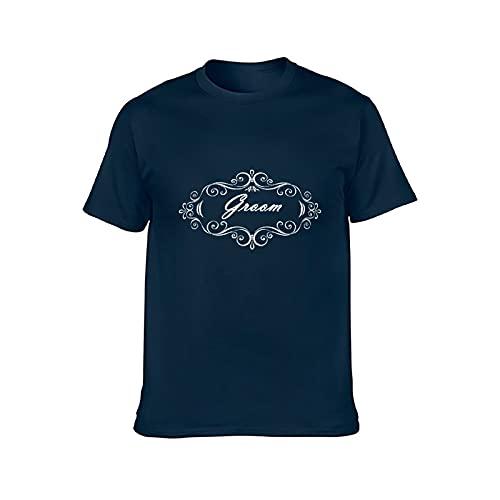 Eamibay Novio hombres y mujeres cuello redondo camiseta de algodón S