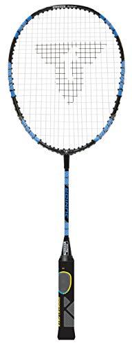 Talbot Torro ELI verkürzte Länge, Lerngriff, Tropfenkopf Badmintonschläger, schwarz/Gelb/Blau, one size