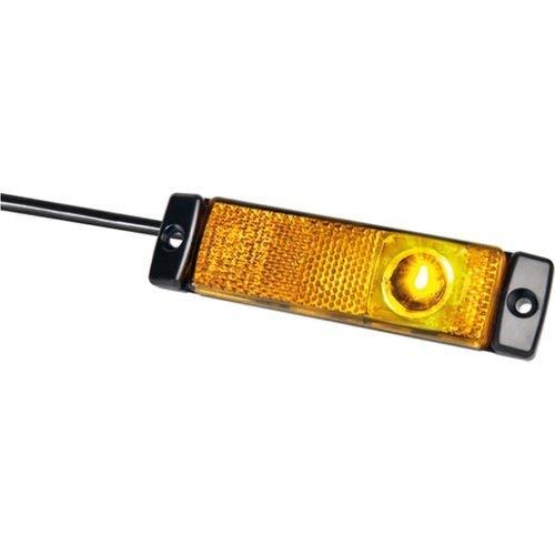 HELLA 2PS 008 645-891 Seitenmarkierungsleuchte - LED - 24V - LED-Lichtfarbe: gelb - Anbau - Kabel: 500mm - Stecker: AMP Superseal - Einbauort: links/rechts