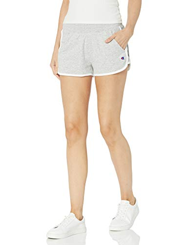 Champion Women's Campus French Terry Short, Oxford Gray, Small