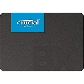 """Crucial CT480BX500SSD1 BX500 480GB 2.5"""" SATA3 6Gb/s SSD- 3D NAND 540/500MB/s 7mm 1.5 mil MTBF 3yr wty Acronis True Image Solid State Drive, Black/Blue (B07G3KGYZQ) 