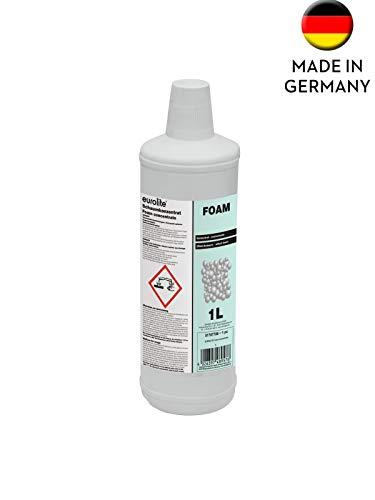 EUROLITE Foam-Konzentrat, 1l | Schaumkonzentrat auf Wasserbasis für alle gängigen Maschinen | Ohne Farbstoffzusätze