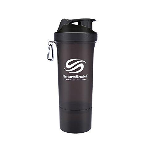 SmartShake(スマートシェイクトシェイク) プロテインシェイカー ボトルプロテインシェイカー ボトル スリム KSS0107 ブラック