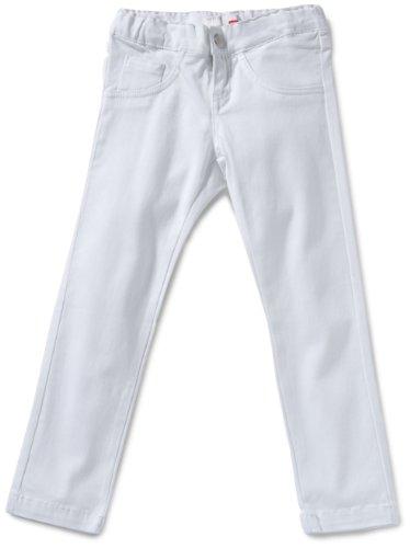 NAME IT - Vaqueros para niña, Talla 11 años (146 cm), Color Blanco