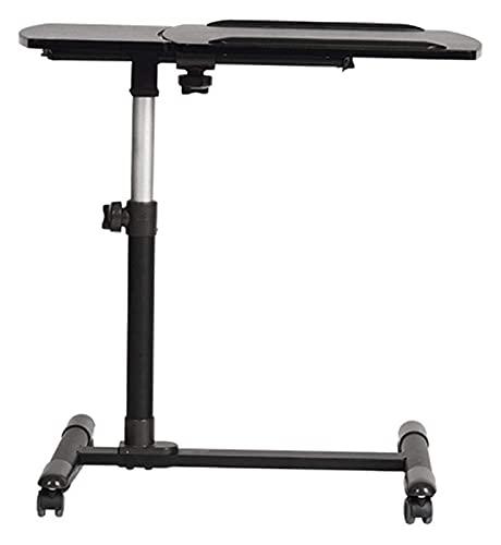 Beistelltisch Einzigartiger C-Förmiger Nachttisch Mobiler Lap-Tisch, Tagesbetttisch, Mobiler Laptop-Stehpult Höhenverstellbar 57-82 Cm 4 Rollen Räder Beistelltisch Für Betten Und Sofas (Farbe: Holzfa