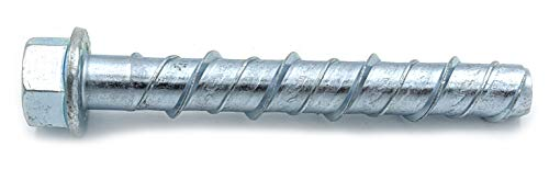 CONFAST LDC383 3/8' x 3' Zinc Plated Large Diameter Concrete Screw for Anchoring to Masonry, Brick or Block (30 per Box)