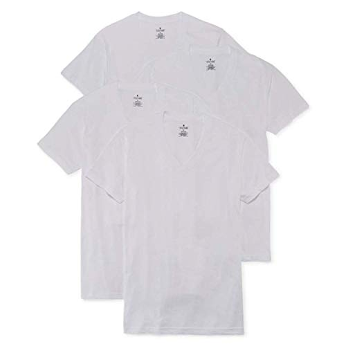 Stafford 4-pk. 100% Cotton Ultra Soft V-Neck T-Shirts (XL) White