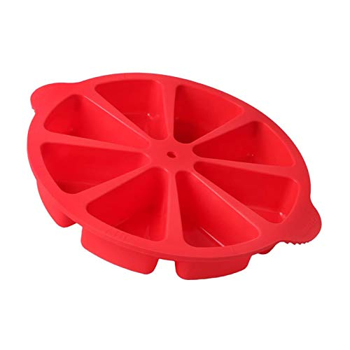 Baking Molds Triangle Cavity Silicone 8 Red Silicone Portion Cake Mold Soap Mould Pizza Slices Pan