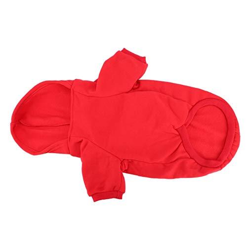 Semiter Sommerüberraschung Hund Hoodie, Haustier Kleidung Hunde Hündchen(red, XL)