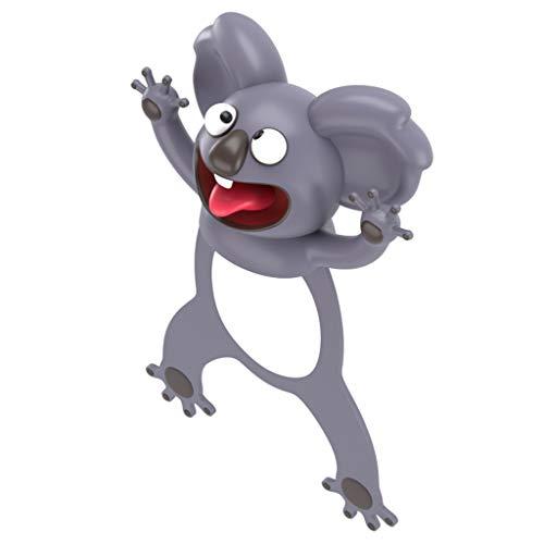 RG-FA 3D Stereo Cartoon Animali Segnalibri Carino Koala Ippopotamo PVC Marcatori Creative Book - Koala australiano