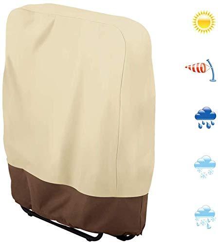 HFM Funda de Silla Plegable de Gravedad Cero Protector de Silla Plegable de Patio al Aire Libre a Prueba de Polvo a Prueba de Polvo (37 x 32 Pulgadas),1pcs