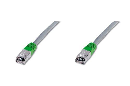 Digitus DK1521010CO Cavo Rete Incrociato FTP, Cat 5E, Schermato, 1 mt, Grigio, 1 m, Cat-5e - Crossover-Cavo patch