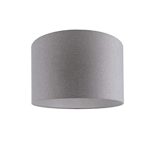 Luminaria De Techo LED De Suspensión Salón Dormitorio Colores Uni Deko E27, Pantalla de lámpara:Gris (Ø45.5 cm), Tipo de lámpara:Lámpara De Techo Plata + Bombilla