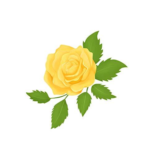 GSYZDCSTZ 3pcs 21,8x21,1 cm Rosa Gialla Soggiorno Decorazione della Parete Decalcomania WC WC Fresco