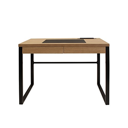 THE HOME DECO FACTORY HD3722 Bureau en et Metal + metal Bois 100x50,30x74 cm