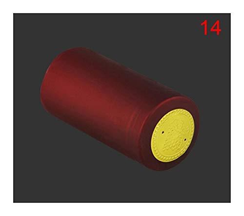 BMZGGIV Corchos de Vino, 50 unids Cálculos de Encogimiento de Calor Cápsulas de Vino Tapón Encogido Cap DE Vino Shrink Wrap Wrap para Botellas de Vino (Color : A14)