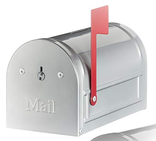 Unbekannt Spardose Briefkasten, Silber, 15 x 9 x 8 cm