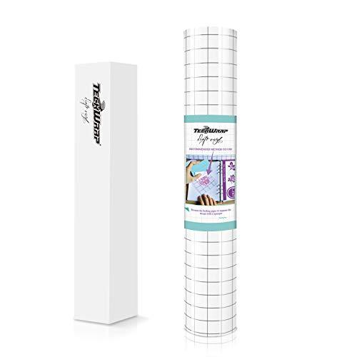 30,5 cm x 3 m Rolle Transferpapier Klebeband transparent mit Abrichtungsraster Applikationsband für selbstklebende Vinyl, Aufkleber, Schilder, Wände, Fenster und andere glatte Oberflächen
