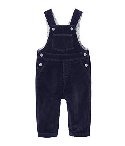 Petit Bateau Baby-Jungen Salopette Longue_4432003 Latzhose, Blau (Smoking 03), 92 (Herstellergröße: 24M/86cm)