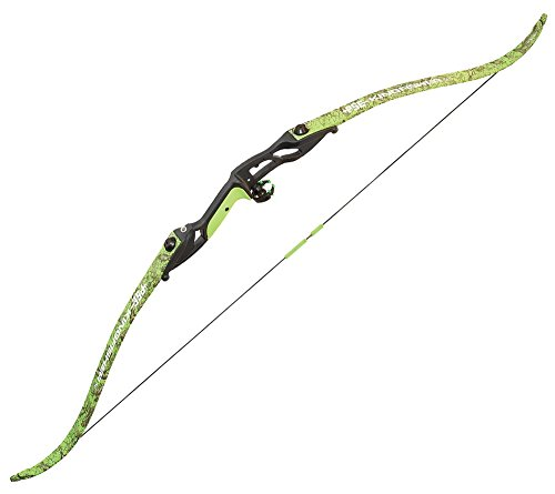 PSE Kingfisher Bowfishing Recurve Bow, Flo Green DK'd Camo, Right Hand (50)