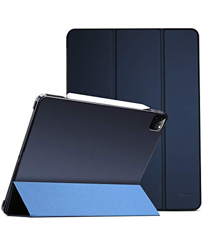 ProCase iPad Pro 11 Case 2020 & 2018, Slim Hard Shell Protective Stand Cover for iPad Pro 11 2nd Gen 2020 (Latest Model) & 1st Gen 2018 [Support 2nd Gen Apple Pencil Charging] –Navy