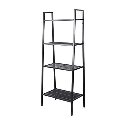 JCNFA Planken Ladder Plank 4 Tier Metalen Boekenkast, Boekenkast Opslag Standing Racks, Unit Metalen Frame, Voor Slaapkamer, Woonkamer, Kantoor, 4 Kleuren