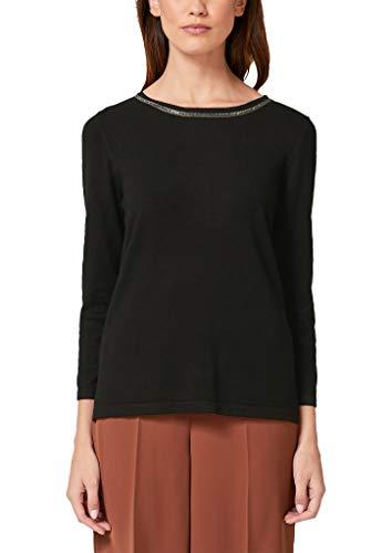s.Oliver BLACK LABEL Damen 11.910.61.3297 Pullover, Schwarz (Forever Black 9999), (Herstellergröße: 36)