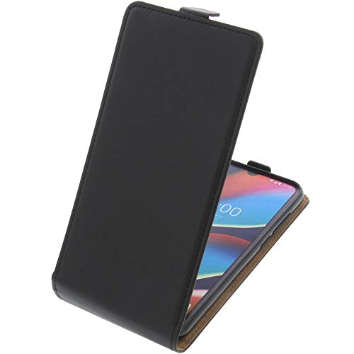 foto-kontor Tasche für Wiko View 3 PRO Smartphone Flipstyle Schutz Hülle schwarz