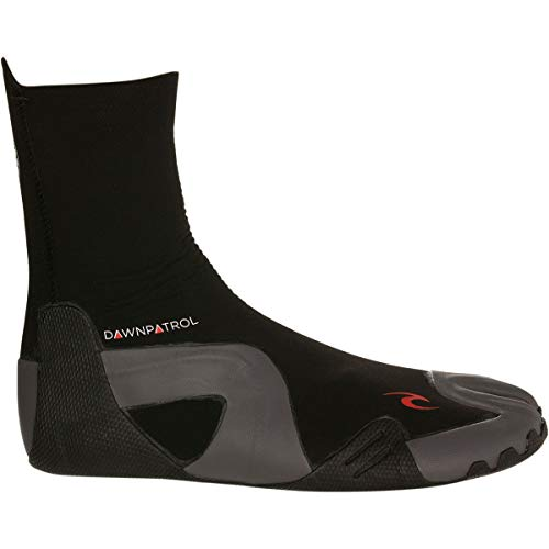 Rip Curl Dawn Patrol Surfing Booties   Split Toe   3mm   Lightweight, Ultra Warm Water Sport Surf Socks for Surfing, Swimming, Snorkeling   Pairs Well with Rip Curl Dawn Patrol Wetsuit, 8, Black
