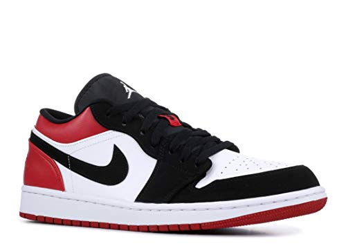 Nike Herren AIR Jordan 1 Low Basketballschuhe, Weiß (White/Black/Gym Red 116), 46 EU