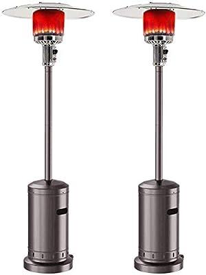 D-Lumina Outdoor Gas Patio Heater 48000 BTU Outdoor Heater Propane Gas Portable Commercial Standing Outdoor Heater Stove (Black)