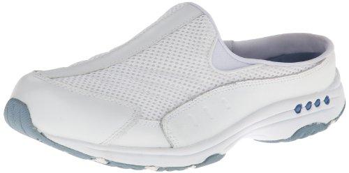 Easy Spirit Traveltime Femmes Blanc étroit Cuir Chaussures Mocassins EU 41