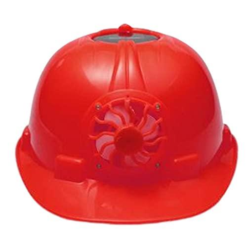 Productos de protección contra incendios industriales, Casco de seguridad industrial con ventilador de refrigeración solar Trabajador de construcción Hard Hat Hat