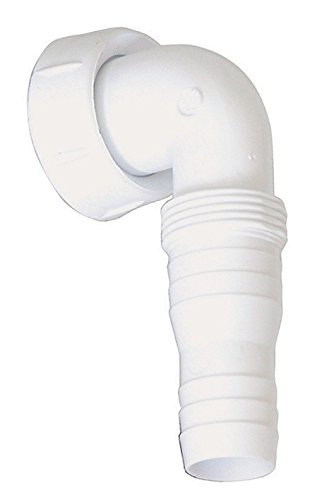Winkel-Schlauchverschraubung 90 Grad | Für Geräte-Unterputz-Geruchsverschluss | Geräteanschluss | Kunststoff | Waschmaschine | Spülmaschine | 1 x 20 - 24 mm