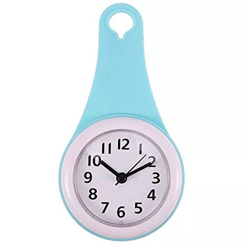 QiKun-Home Reloj de Pared con Ventosa Impermeable y antivaho para baño silencioso...