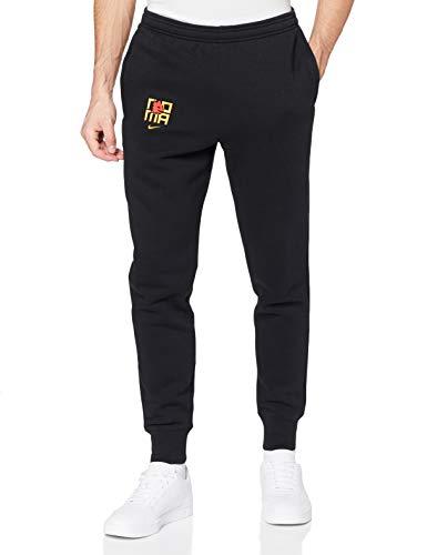NIKE AS Roma Grafik Fleece Pantalones, Hombre, Negro/University Oro, Large