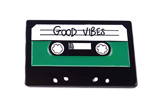 Naehgedoens.de Pin Old School Kassette | Tape | Good Vibes | Grün Schwarz