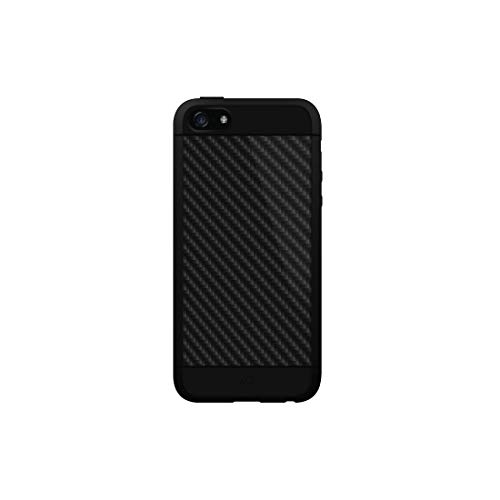 Hama Real Carbon Handy Tasche schwarz - Handyhüllen (Case, Apple iPhone 5/5s, schwarz)