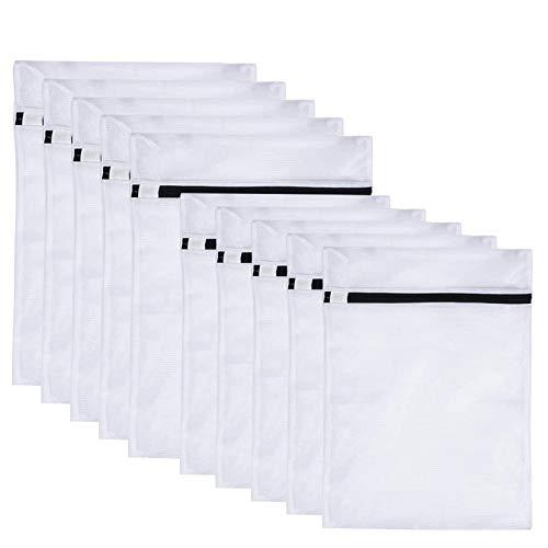 Funmo Wäschesäcke, 10 Stück Wäschenetze für Waschmaschine, Wäschesack mit Reißverschluss für Unterwäsche Feinwäsche BH Dessous Socken Strumpfhosen Taschen Schuhe Babykleidung (40 x 50 cm + 30x40cm)