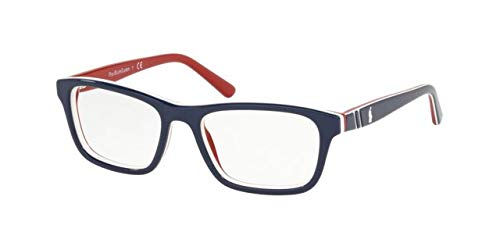 Ralph Lauren POLO 0PP8536 Monturas de gafas, Top Blue/White/Red, 49 para Hombre