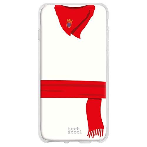 Funnytech® beschermhoes gemaakt van siliconen voor OPPO rendier Z [flexibele siliconengel, exclusief design] pak San Fermin rood en wit